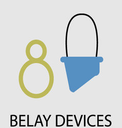 Belay devices icon flat design vector image vector image