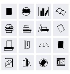 books icon set vector image vector image