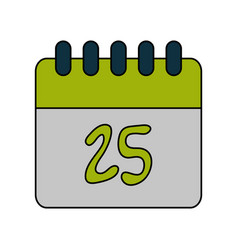 calendar on day 25 icon image vector image