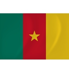 Cameroon waving flag vector