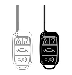 Car key outline vector