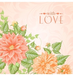 Chrysanthemum holiday card vector