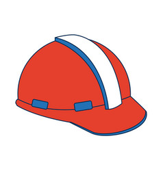 Construction helmet element safety in construction vector