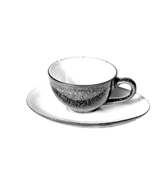 Drawn Sketch painting coffee cup vector image vector image