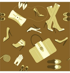 fashionable accessories vector image vector image