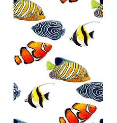 Fish pattern4 vector