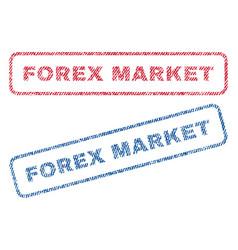 Forex market textile stamps vector