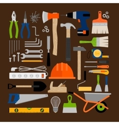 House repair working tools icons vector image vector image