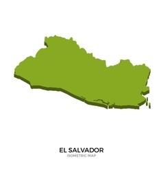Isometric map of el salvador detailed vector