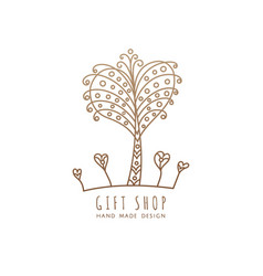 logo gift shop vector image