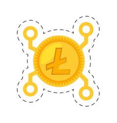 Money litecoin golden digital vector