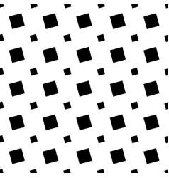 Monochrome seamless geometric square pattern - vector