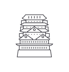 pagodaasian temple line icon sign vector image