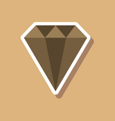 Paper sticker on stylish background diamond vector