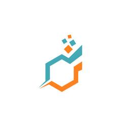 polygon digital technology logo vector image
