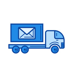 post car line icon vector image