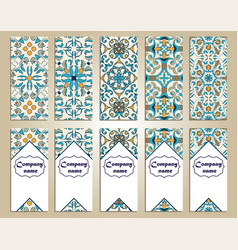 set of colorful vertical banners vector image vector image