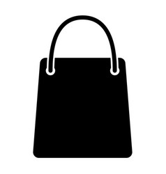 shopping bag silhouette icon 48x48 pictogram vector image vector image