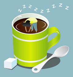 Sleep coffee vector