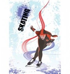speed skating poster vector image
