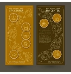 Template spa center flyer with icons vector