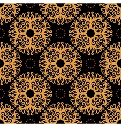 Vintage seamless pattern on dark background vector image vector image