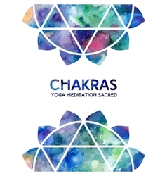 Watercolor chakras background vector image vector image
