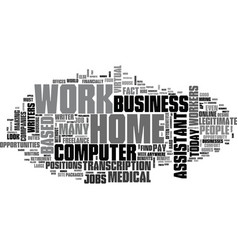 What types of computer home based business work vector