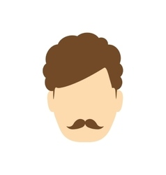 Man male mustache head person icon vector