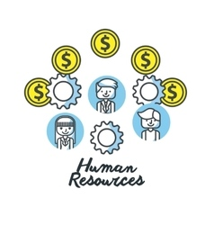 Human resources flat line icons vector