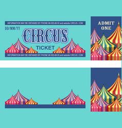 Retro circus ticket vector