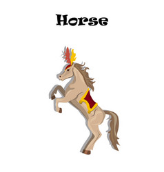 Circus or carnival horse with plume vector