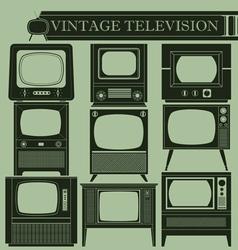 Vintage television ii vector