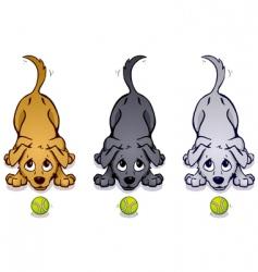playful pups vector image