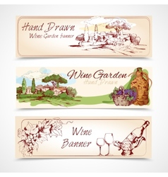 Wine banners set vector