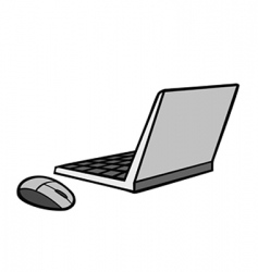 laptop mouse vector image