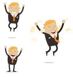 Happy free businessman vector