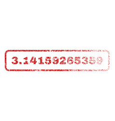 314159265359 rubber stamp vector