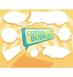 Set of comic bubbles vector image