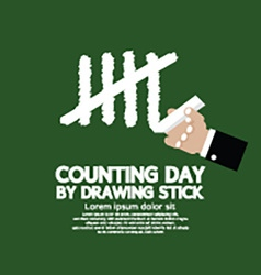 Counting day by drawing sticks vector