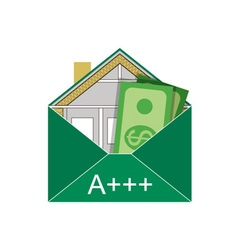 Building envelope saving dollars vector