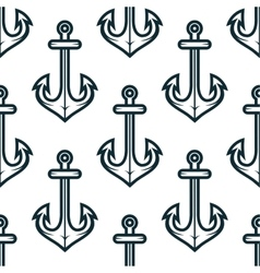 Old nautical ship anchors seamless pattern vector image