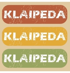 Vintage klaipeda stamp set vector