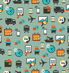 Seamless pattern with logistics equipment vector