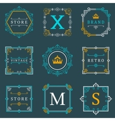 Set luxury logos and monogram template vector