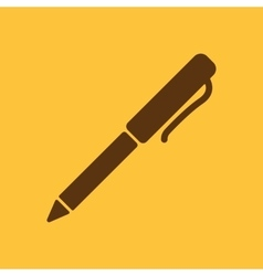 The pen and ballpoint icon writing symbol flat vector