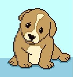pixel puppy vector image