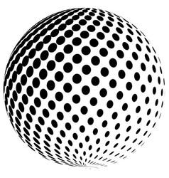 abstract halftone globe logo symbol icon vector image vector image