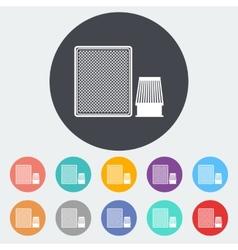 Automotive filter icon vector