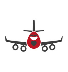 avia transportation logistics aircraft or plane vector image vector image